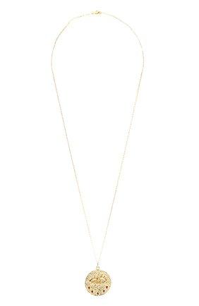 Женская кулон на цепочке HERMINA ATHENS золотого цвета, арт. KLPG | Фото 1