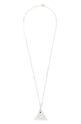 Женская кулон на цепочке HERMINA ATHENS серебряного цвета, арт. KPLPS | Фото 1