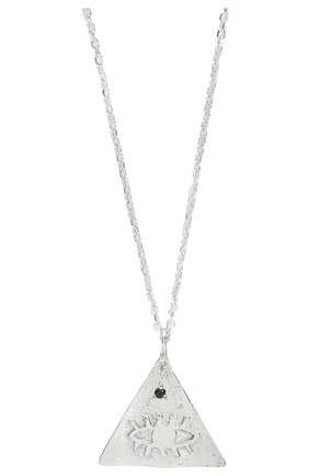 Женская кулон на цепочке HERMINA ATHENS серебряного цвета, арт. KPLPS | Фото 2