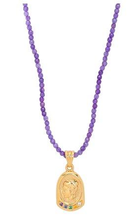 Женское колье HERMINA ATHENS фиолетового цвета, арт. YLN | Фото 2