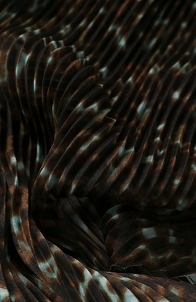Женский платок GIORGIO ARMANI темно-коричневого цвета, арт. 795300/0P110 | Фото 2