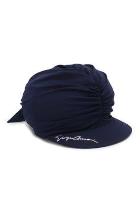Женская кепка GIORGIO ARMANI темно-синего цвета, арт. 797306/0P505 | Фото 1