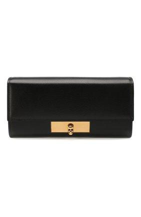 Женские кожаный кошелек ALEXANDER MCQUEEN черного цвета, арт. 610212/1SM1T | Фото 1