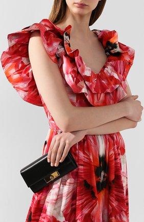 Женские кожаный кошелек ALEXANDER MCQUEEN черного цвета, арт. 610212/1SM1T | Фото 2