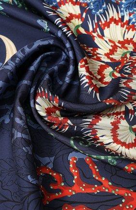 Женский шелковый платок SALVATORE FERRAGAMO синего цвета, арт. Z-0726967 | Фото 2