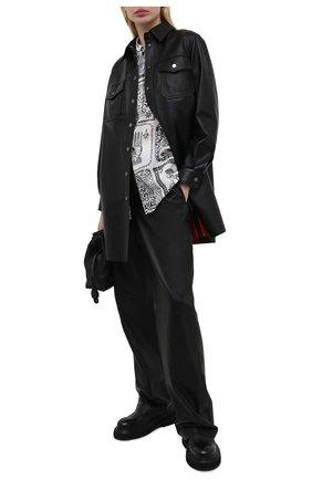Женская кожаная рубашка MASLOV черного цвета, арт. R011   Фото 2