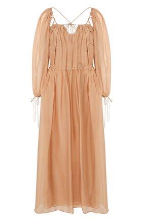 Женское шелковое платье RUBAN бежевого цвета, арт. RSS20 - 10.1.59.3   Фото 1