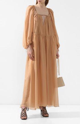 Женское шелковое платье RUBAN бежевого цвета, арт. RSS20 - 10.1.59.3   Фото 2