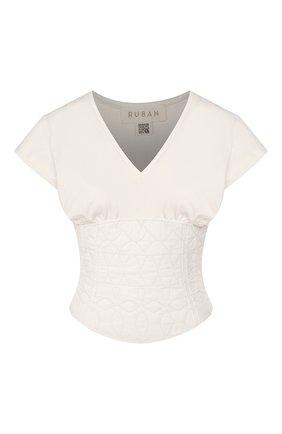 Женская хлопковый топ RUBAN белого цвета, арт. RРS20 - 17.1.62.54.10 | Фото 1