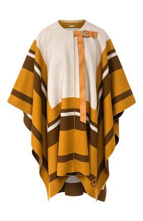 Женская шерстяное пончо CHLOÉ бежевого цвета, арт. CHC20SMA84170 | Фото 1
