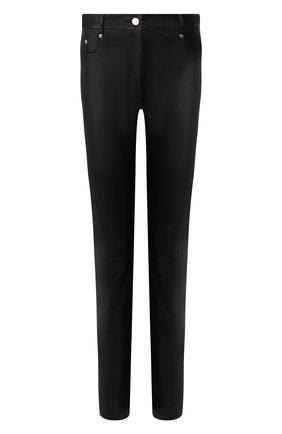 Женские кожаные брюки JITROIS черного цвета, арт. PANTAL0N CURVE AGNEAU STRETCH | Фото 1