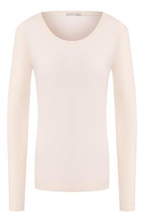 Женская пуловер из смеси шерсти и шелка HANRO кремвого цвета, арт. 071655 | Фото 1