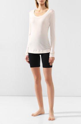 Женская пуловер из смеси шерсти и шелка HANRO кремвого цвета, арт. 071655 | Фото 2