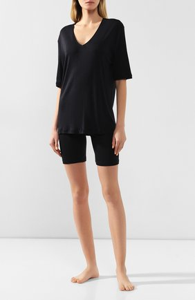 Женские шорты из смеси шерсти и шелка HANRO черного цвета, арт. 071421 | Фото 2