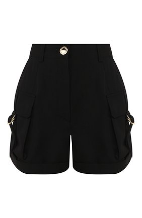 Женские шерстяные шорты BALMAIN черного цвета, арт. TF15007/167L | Фото 1