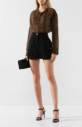 Женские шерстяные шорты BALMAIN черного цвета, арт. TF15007/167L | Фото 2