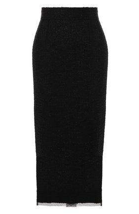 Женская юбка DOLCE & GABBANA черного цвета, арт. F4BSXT/HUMET | Фото 1