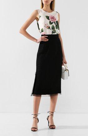 Женская юбка DOLCE & GABBANA черного цвета, арт. F4BSXT/HUMET | Фото 2