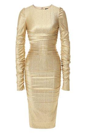 Женское платье DOLCE & GABBANA золотого цвета, арт. F6H8CT/FURIZ | Фото 1