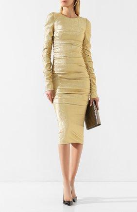 Женское платье DOLCE & GABBANA золотого цвета, арт. F6H8CT/FURIZ | Фото 2