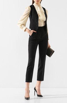 Женские шерстяные брюки DOLCE & GABBANA серого цвета, арт. FTAM2T/FR2XI | Фото 2