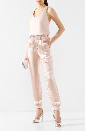 Женские шелковые джоггеры TOM FORD светло-розового цвета, арт. PAW299-FAX623 | Фото 2