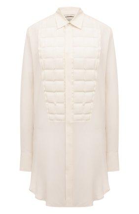 Женская шелковая рубашка BOTTEGA VENETA белого цвета, арт. 589625/VKME0 | Фото 1