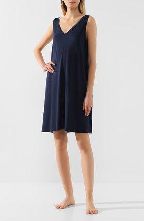 Женская сорочка DEREK ROSE темно-синего цвета, арт. 1209-LARA001   Фото 2