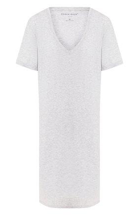 Женская сорочка DEREK ROSE серого цвета, арт. 1207-ETHA001   Фото 1