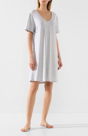 Женская сорочка DEREK ROSE серого цвета, арт. 1207-ETHA001   Фото 2