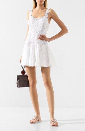 Женское хлопковое платье CHARO RUIZ IBIZA белого цвета, арт. 202603 | Фото 2
