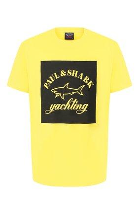 Мужская хлопковая футболка PAUL&SHARK желтого цвета, арт. E20P1117 | Фото 1