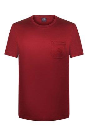 Мужская хлопковая футболка PAUL&SHARK бордового цвета, арт. C0P1011/C00 | Фото 1