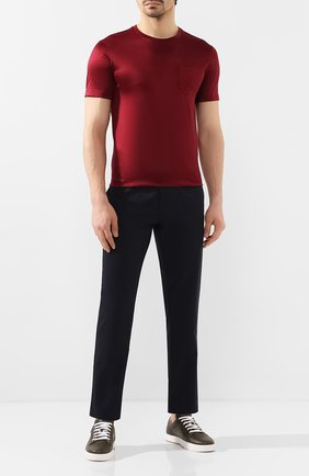 Мужская хлопковая футболка PAUL&SHARK бордового цвета, арт. C0P1011/C00 | Фото 2