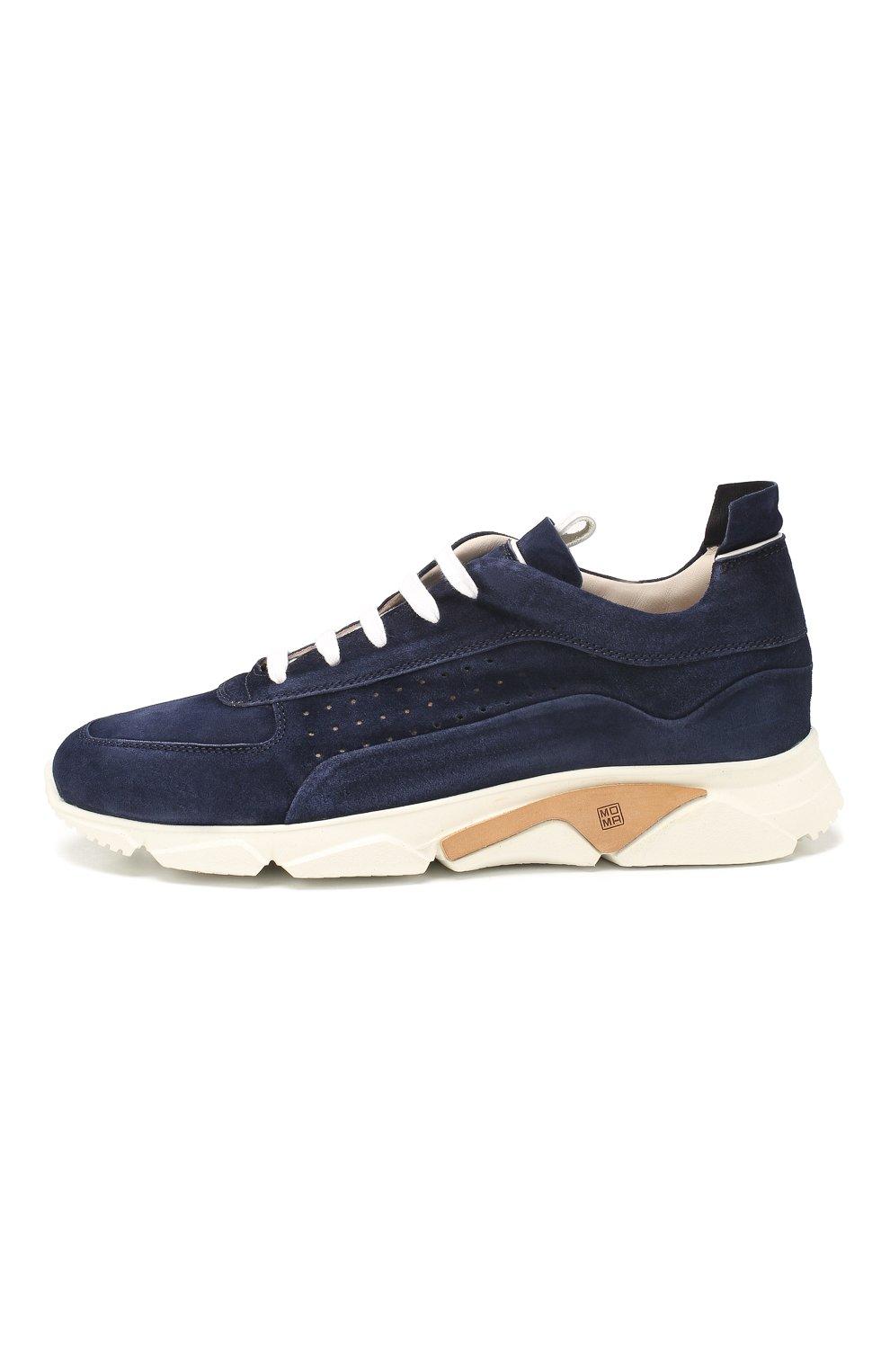 Мужские замшевые кроссовки MOMA темно-синего цвета, арт. 4AS018-0L   Фото 3 (Материал внутренний: Натуральная кожа; Подошва: Массивная)