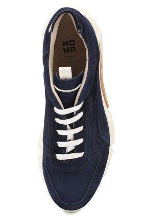 Мужские замшевые кроссовки MOMA темно-синего цвета, арт. 4AS018-0L   Фото 5 (Материал внутренний: Натуральная кожа; Подошва: Массивная)