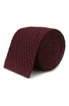 Мужской шелковый галстук ERMENEGILDO ZEGNA бордового цвета, арт. Z7F01/15D | Фото 1