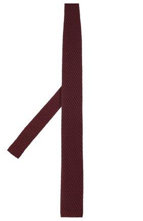 Мужской шелковый галстук ERMENEGILDO ZEGNA бордового цвета, арт. Z7F01/15D | Фото 2
