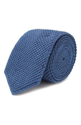 Мужской шелковый галстук ERMENEGILDO ZEGNA голубого цвета, арт. Z7F00/1ZM   Фото 1