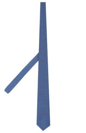 Мужской шелковый галстук ERMENEGILDO ZEGNA голубого цвета, арт. Z7F00/1ZM | Фото 2