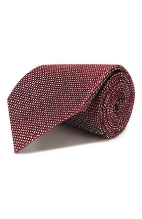 Мужской шелковый галстук ERMENEGILDO ZEGNA красного цвета, арт. Z7D84/1UM | Фото 1