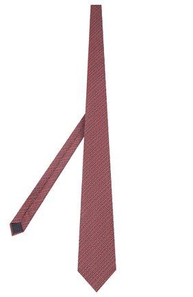 Мужской шелковый галстук ERMENEGILDO ZEGNA красного цвета, арт. Z7D84/1UM | Фото 2