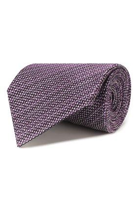 Мужской шелковый галстук ERMENEGILDO ZEGNA фиолетового цвета, арт. Z7D83/1UM | Фото 1