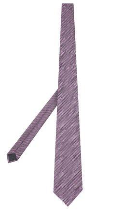 Мужской шелковый галстук ERMENEGILDO ZEGNA фиолетового цвета, арт. Z7D83/1UM | Фото 2