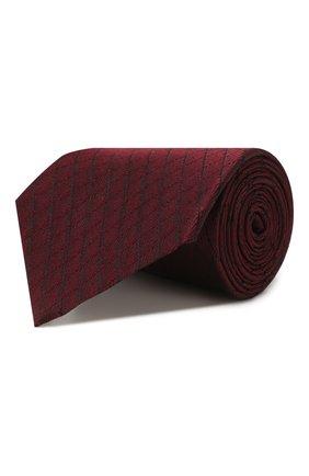 Мужской шелковый галстук ERMENEGILDO ZEGNA бордового цвета, арт. Z7D14/1UM | Фото 1