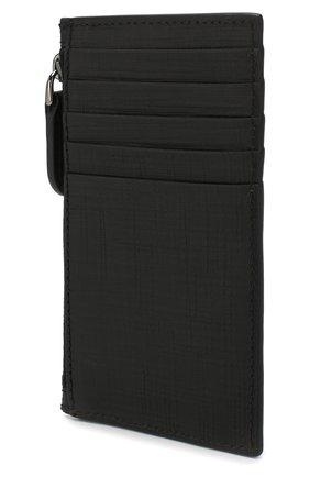 Мужской кожаный футляр для кредитных карт ERMENEGILDO ZEGNA черного цвета, арт. E1270J-LHJAK | Фото 2