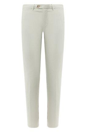 Мужской хлопковые брюки CORNELIANI светло-зеленого цвета, арт. 854ER1-0120168/00 | Фото 1