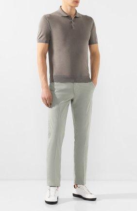 Мужской хлопковые брюки CORNELIANI светло-зеленого цвета, арт. 854ER1-0120168/00 | Фото 2