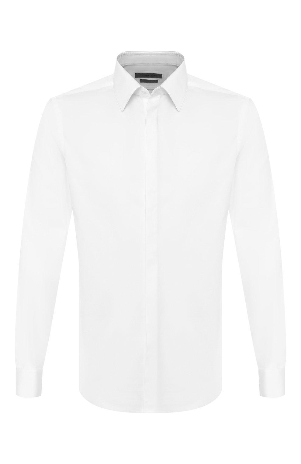 Мужская хлопковая сорочка CORNELIANI белого цвета, арт. 85E082-0111102/00   Фото 1