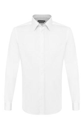 Мужская хлопковая сорочка CORNELIANI белого цвета, арт. 85E082-0111102/00 | Фото 1